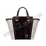 дамски чанти - CH 035C- меланж черен с бордо и бежов