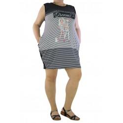 Дамска рокля / туника 1389 - Макси размер
