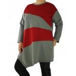 Дамска асиметрична рокля / туника 123161 - Макси размер