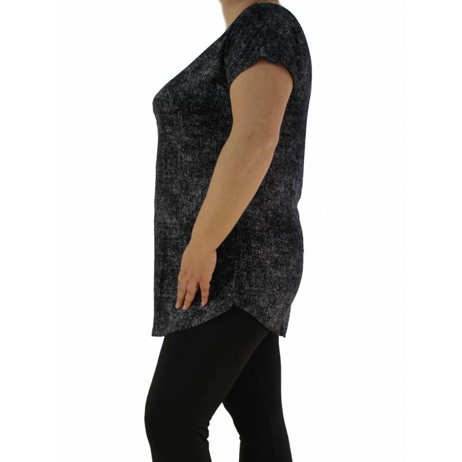 72a29d01072 Дамска блуза къс ръкав / туника 1997- Макси размер - Дамски туники ...